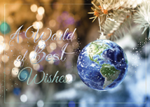 World on a String Holiday Greeting Card