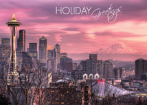 Sunset in Seattle Regional Holiday Card