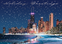 Chicago Lake Front Holiday Card