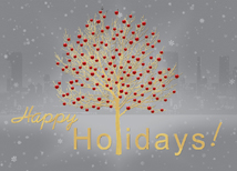 Gold Foil Tree Holiday Greeting Card