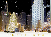 Greetings from Chicago Holiday Cards