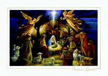 Old Master Adoration Religious Christmas Card