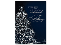 Sparkling Thanks Holiday Greeting Card
